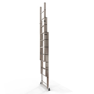 aluminum extension ladder 3D