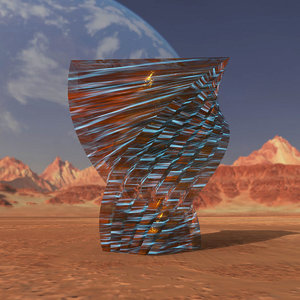 3D model alien crystal architectural