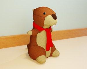 3D marmut kid rigged model