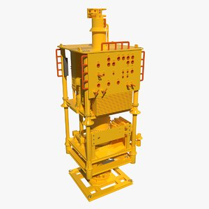 subsea wellhead manifold 3D model