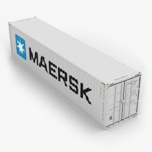 3D maersk 40ft shipping container