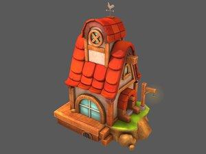 3D house orange
