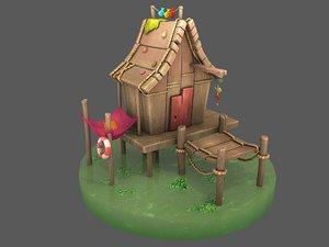 fisherman swamp house 3D model