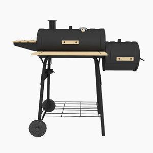 3d model outsunny backyard charcoal