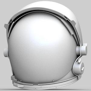 3D nasa space helmet