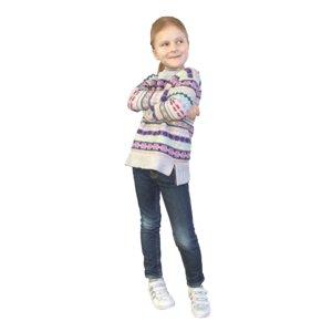 cute little girl standing 3D model
