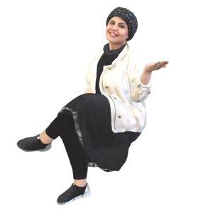 3D model woman sitting