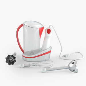 3D mixer batidora model