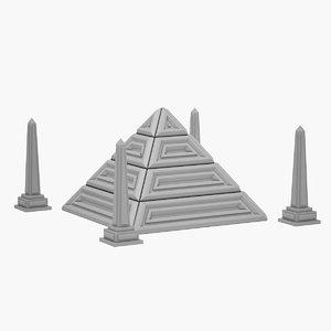 sci-fi pyramid 3D