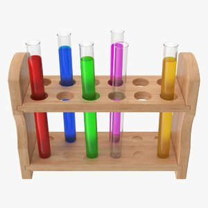 3D test tube rack model