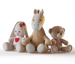 soft toys 3D model