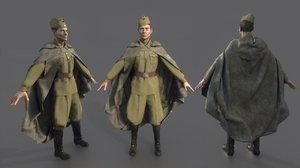 3D model russian sniper