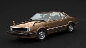 3D model honda prelude 1980
