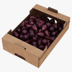 fruit cardboard box figs 3D model