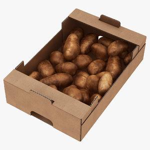fruit cardboard box model