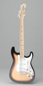 music guitar instruments 3D model
