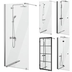 3D cabin showers svedbergs set model