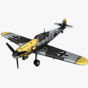 3D model german messerschmitt bf 109