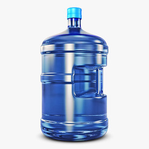 3D model water bottle container v