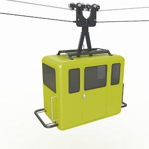 ropeway cabin 3D model