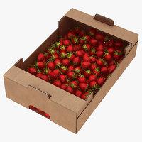 Fruit Cardboard Box with Strawberies