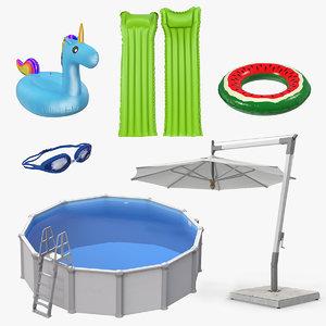 swimming pool accessories 3 model