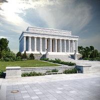 Lincoln Memorial Scene