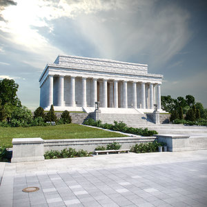 memorial monument washington 3D model