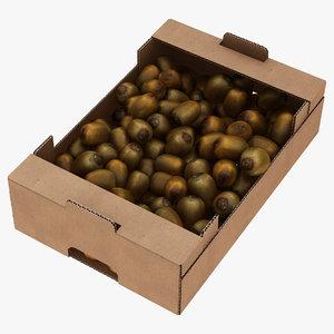 3D fruit cardboard box kiwis model