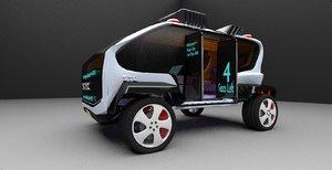 3D concept car bus design