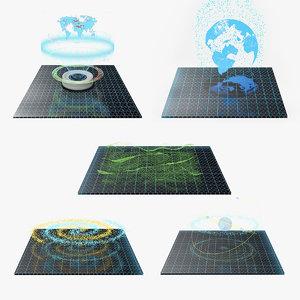 hologram 3 3D model