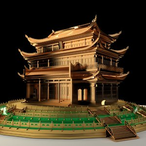 chinese ancient house 3D