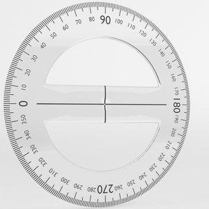 circular protractor 3D model