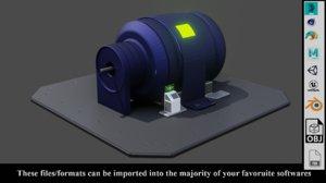 3D model sci power generator ready
