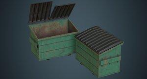 3D dumpster contains 2b