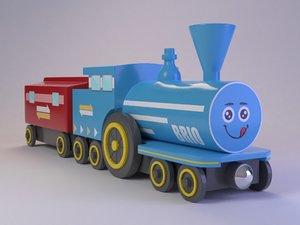 cute toy train model