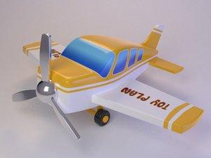 cartoon cute toy plane 3D model