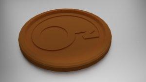 coaster 3D model