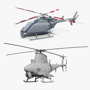 3D northrop grumman unmanned helicopters model