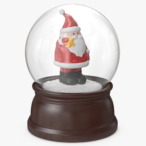 3D snow globe santa claus