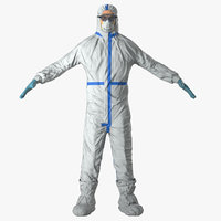 Medical Protective Hazmat Clothing with Goggles - Male
