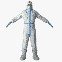 Medical Protective Hazmat Clothing with Goggles Female