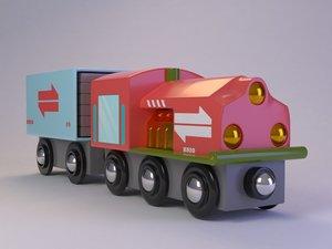 brio toy train 3D