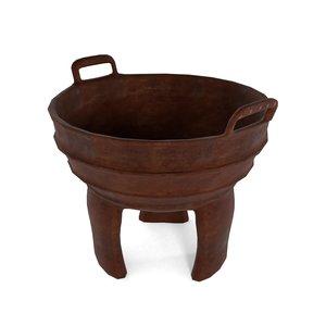 3D model antique food pot