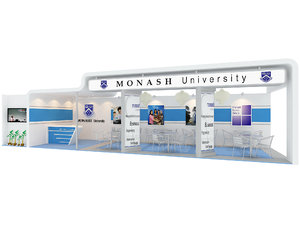 3D monash university exhibition booth: