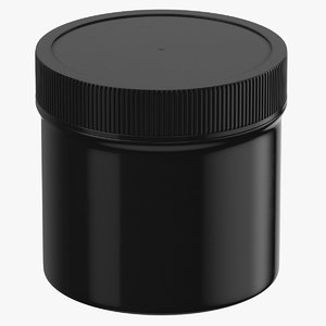 3D model plastic jar wide mouth