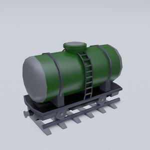 3D tank wagon model