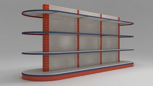 3D model shelves markets