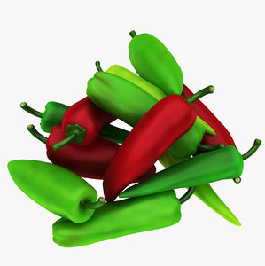 chili peppers 3D