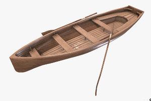 3D wooden boat model